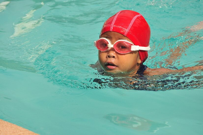 Louenne - student of Swimming lessons for babies by Chito Rivera